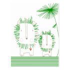 Minimalist Lion - Green Postcard