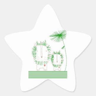 Minimalist Lion - Green Sticker