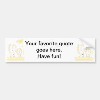 Minimalist Lion - Yellow Bumper Stickers