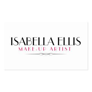 Minimalist Make-up artist/Salon business card