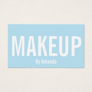 Minimalist makeup artist blue trendy business card
