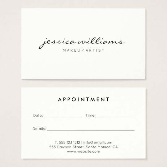 Minimalist Modern Appointment Business Card