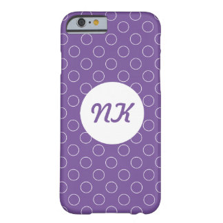 Minimalist Modern Circle Lavender Barely There iPhone 6 Case