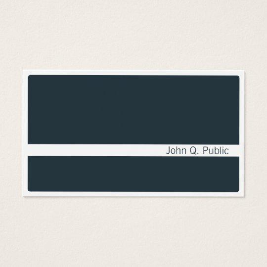 Minimalist Modern Dark Grey Blue Business Card