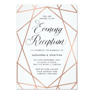 wedding reception invitations zazzle uk