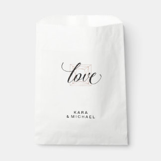 Minimalist Modern Geometric Diamond Wedding Favour Bags