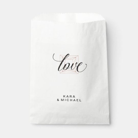 Minimalist Modern Geometric Diamond Wedding Favour Bags