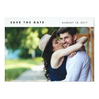 Minimalist Modern Photo Save the Date 13 Cm X 18 Cm Invitation Card