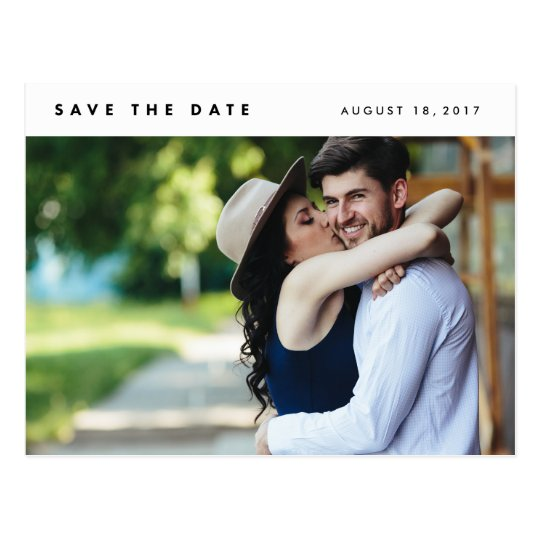 Minimalist Modern Photo Save the Date Postcards