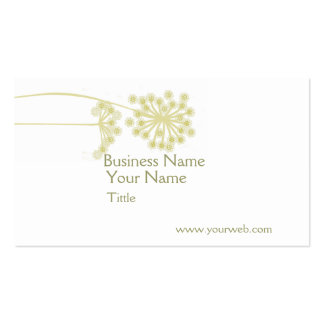 Minimalist Modern Professional Elegant Wild Flower Pack Of Standard Business Cards