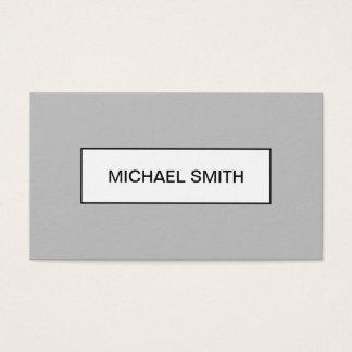 Minimalist modern professional grey business card