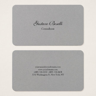 Minimalist Modern Professional Simple Plain Business Card