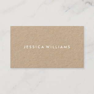 Kraft business cards zazzle uk minimalist modern rustic kraft business card reheart Images
