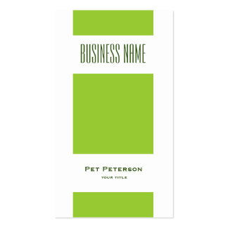Minimalist modern square green pack of standard business cards