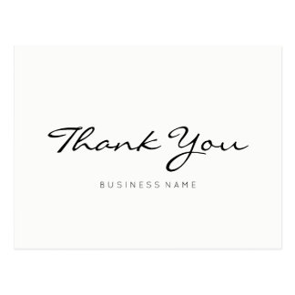Minimalist Modern Thank You Postcard