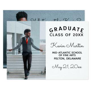 Minimalist Modern Type and Script Graduation Card