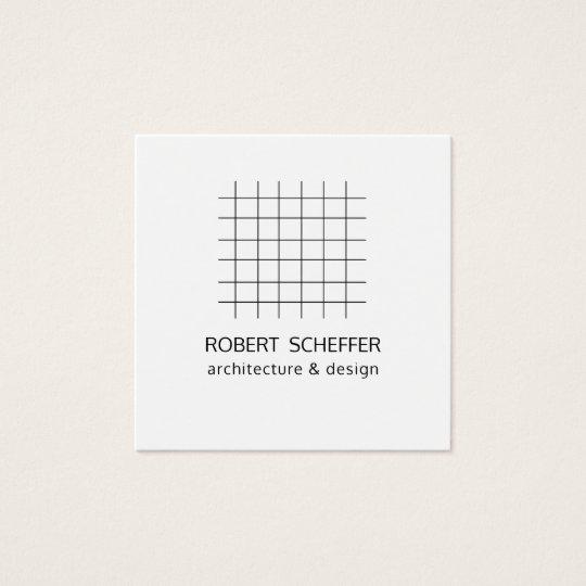 Minimalist Modern White Graph Architect Designer Square Business