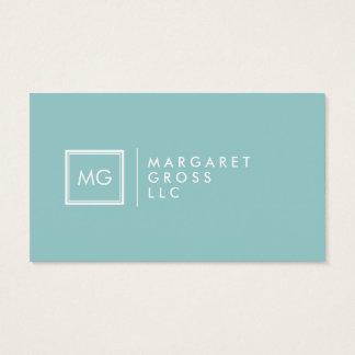 Minimalist Modern White & Pastel Blue