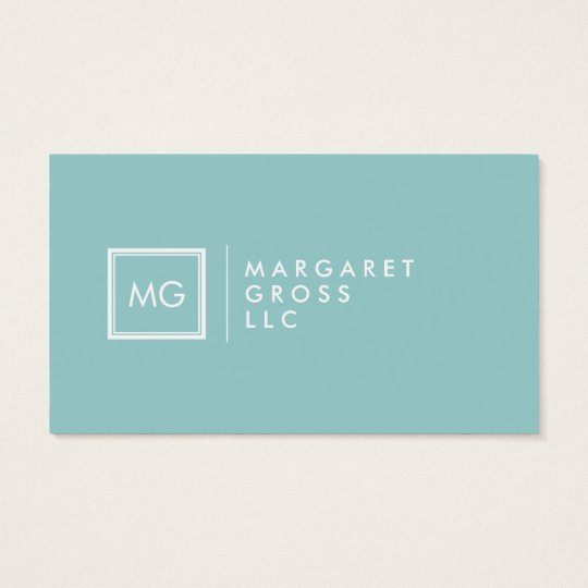 Minimalist Modern White & Pastel Blue Business Card