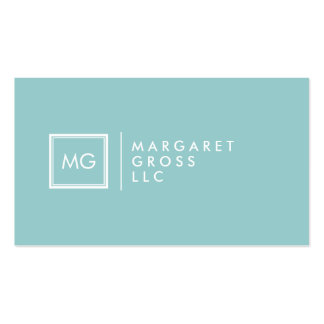 Minimalist Modern White & Pastel Blue Pack Of Standard Business Cards
