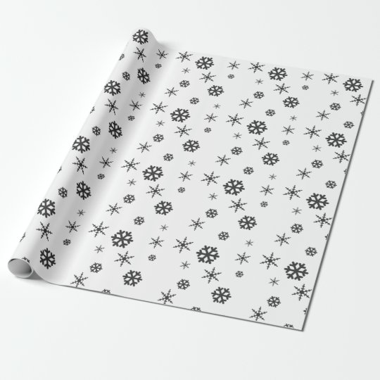 Minimalist & Modern Winter Snowflake Gift Wrapping Wrapping