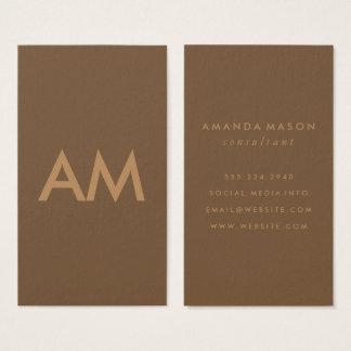 Minimalist Monogram Brown