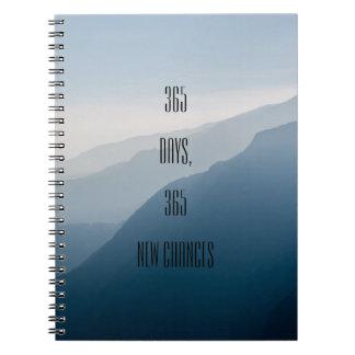Minimalist motivational 365 days 365 new chances notebooks