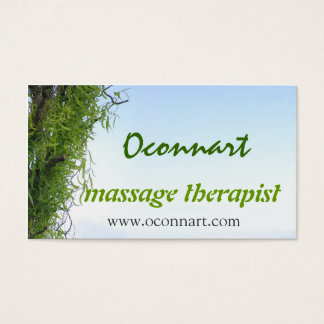 Minimalist natural tranquil tree business card