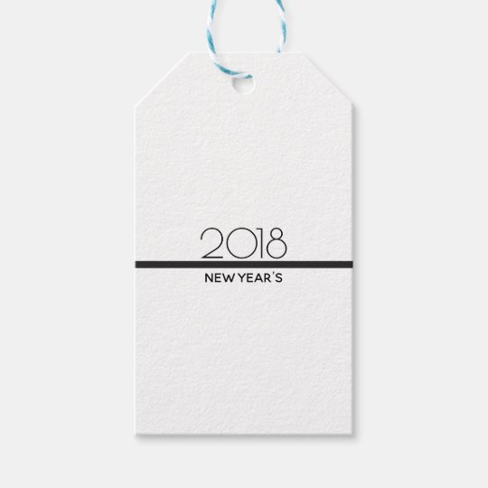 Minimalist New Years Celebration | Gift Tag