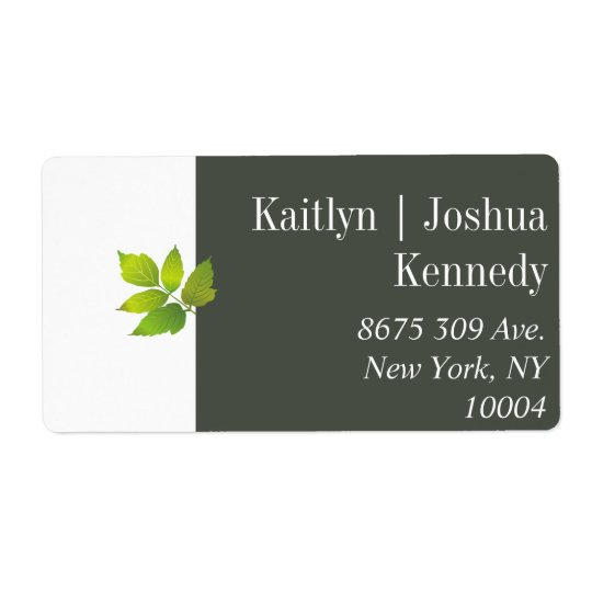 Minimalist Oak Autumn Wedding Address