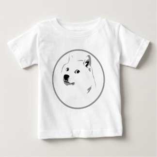 Minimalist, pale dogecoin print baby T-Shirt