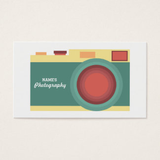 Minimalist Pastel Photography Business Card