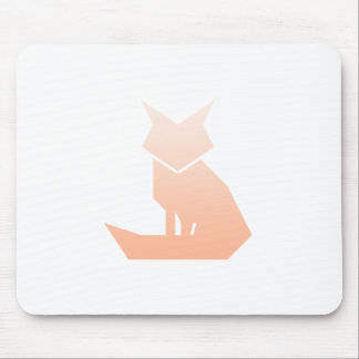 Minimalist Peach Gradient Fox Mousepad