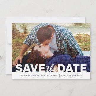 Minimalist Photo Save the Date