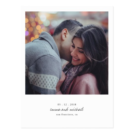 Minimalist Photo Save the Date Postcard