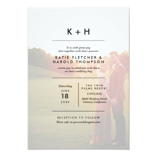 Minimalist Photo Wedding 13 Cm X 18 Cm Invitation Card