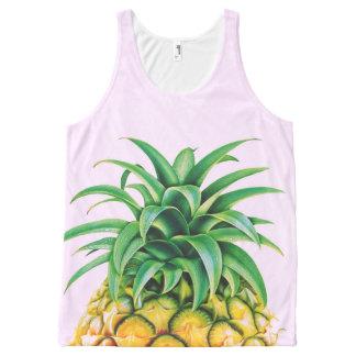 Minimalist Pineapple All-Over Print Tank Top