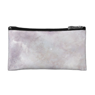 Minimalist Pink Lilac Marble Print Cosmetic Bag
