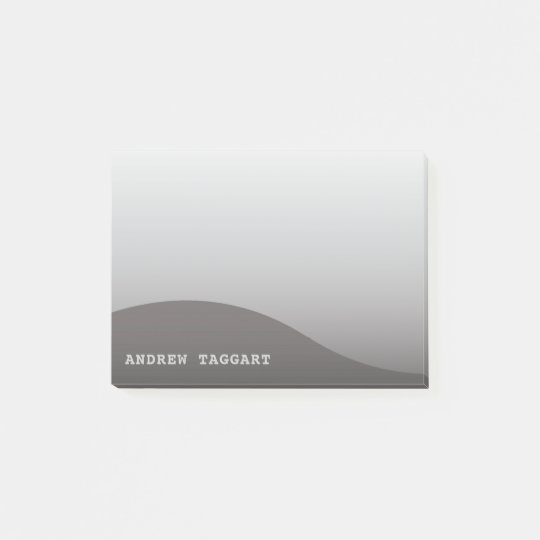 Minimalist Post-It Notes with simple grey design