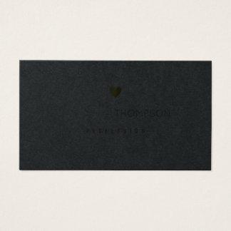 minimalist prof women black premium business card