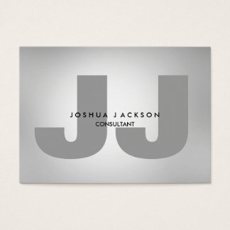 Minimalist Quality Grey Monogram Trendy Modern Business Card