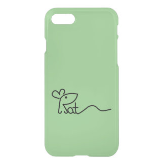 Minimalist Rat Typography Phone Case