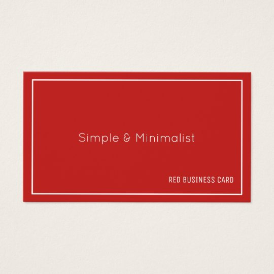 Minimalist red colour business card
