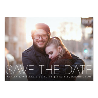 Minimalist Simple Photo Save the Date Card 11 Cm X 16 Cm Invitation Card