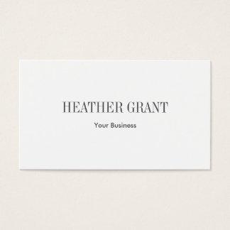 Minimalist Simple Plain Business Card