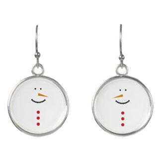 Minimalist Snowman Earrings