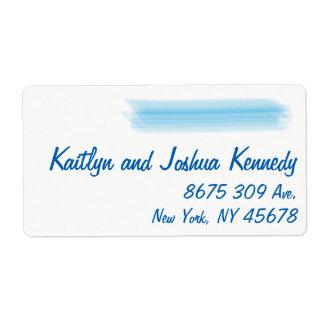 Minimalist Soft Ambiance Blue Watercolor Address