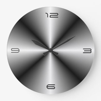 Minimalist Stainless Steel Look>Wall Clock
