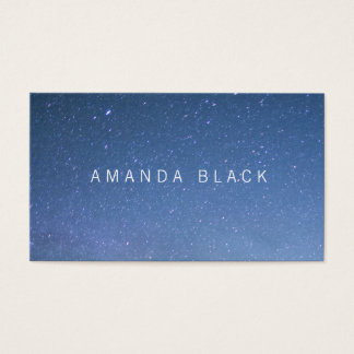 Minimalist Starry Business Card
