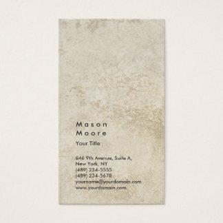 Minimalist Stone Wall Plain Modern Professional Business Card